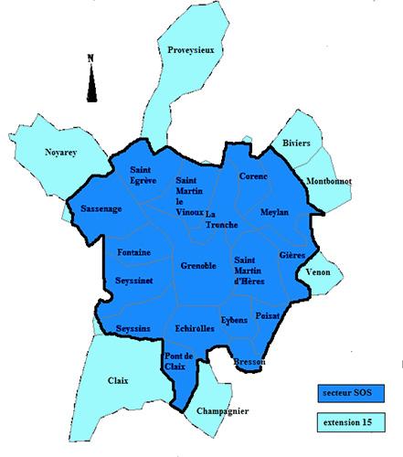 Carte De Lagglomration La Zone Couverte